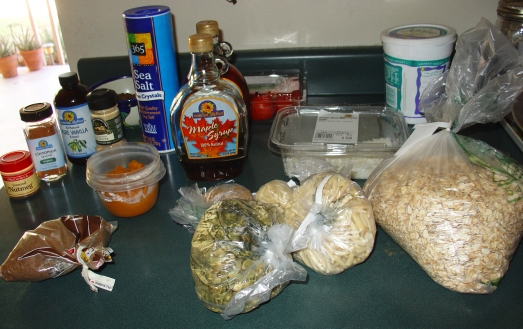 Pumpkin Granola Ingredients