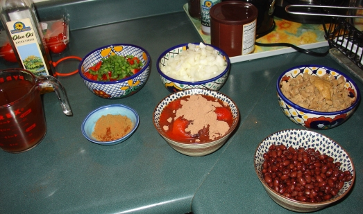 Vegan Mole Ingredients