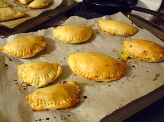 Trays of Empanadas Humitas (Corn Empanadas)