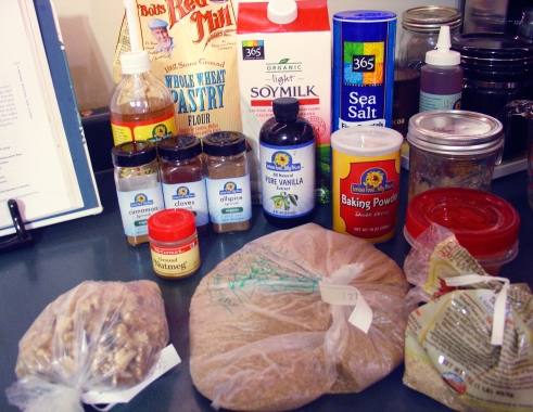 Pumpkin Everything Muffin Ingredients