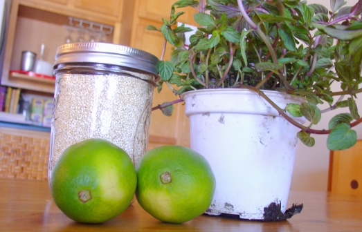 Ingredients for Mint Lime Quinoa